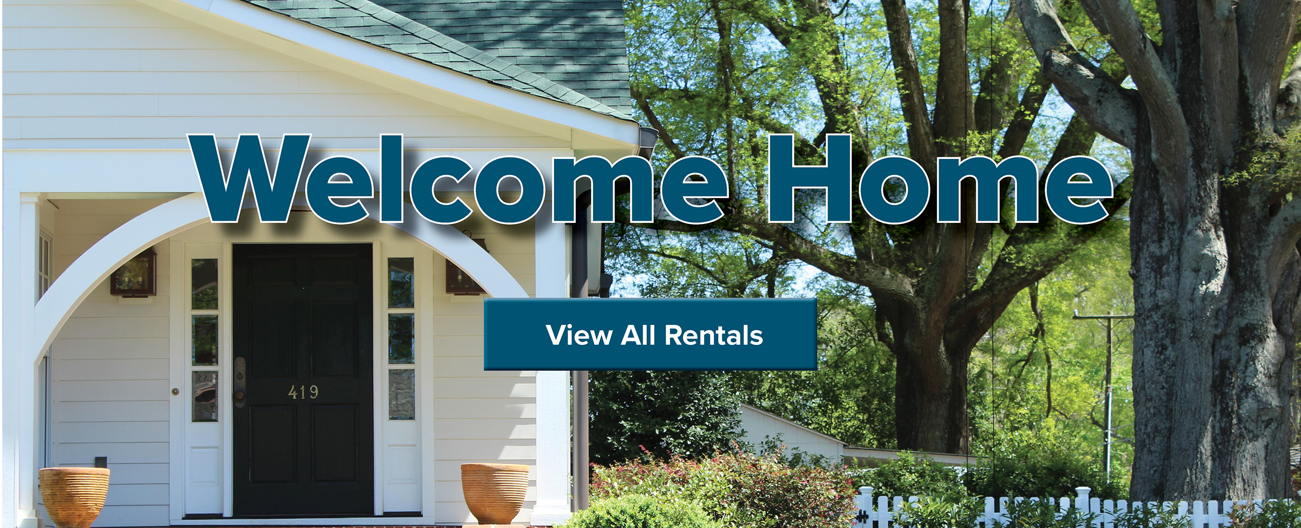 Welcome Home Message and View All Rentals